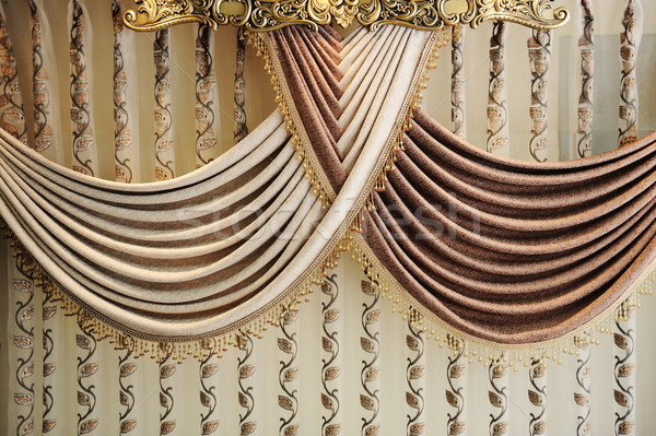 Stock photo: Modern curtain