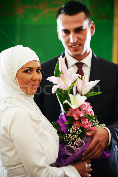 красивой пару воды свадьба любви Сток-фото © zurijeta