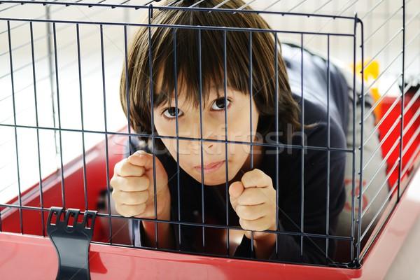 çocuk kafes Bina çocuk güvenlik savaş Stok fotoğraf © zurijeta