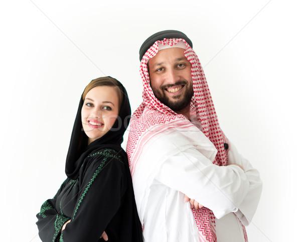 Happy Arabic wife and husband Stock photo © zurijeta