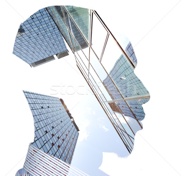 Business man building concept Stock photo © zurijeta