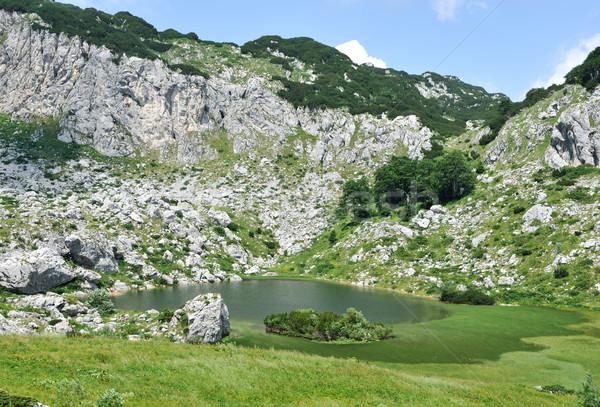 Lake on the top of mountain hills Stock photo © zurijeta