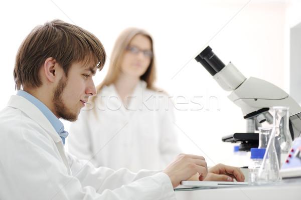 Ciencia equipo de trabajo laboratorio Internet médicos Foto stock © zurijeta