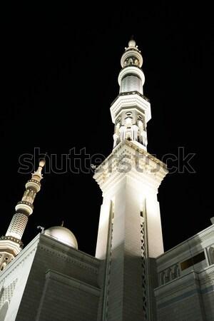 Cami gece dizayn arka plan dua Tanrı Stok fotoğraf © zurijeta