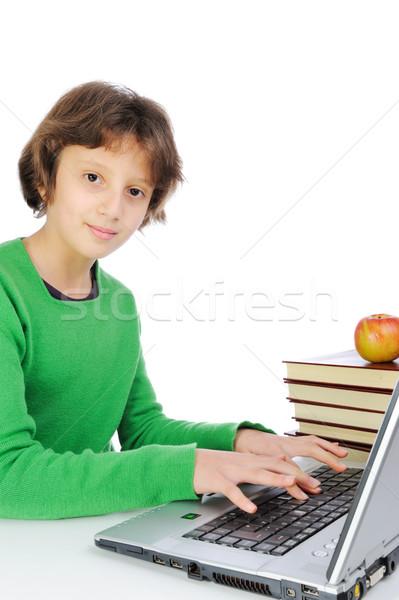 かわいい 女学生 ノートパソコン 図書 ストックフォト © zurijeta