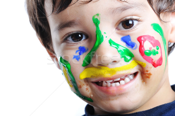 Messy face, childhood  Stock photo © zurijeta