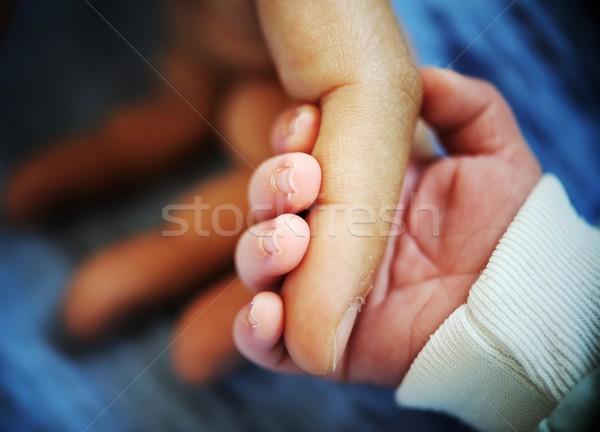 Newborn baby hand Stock photo © zurijeta