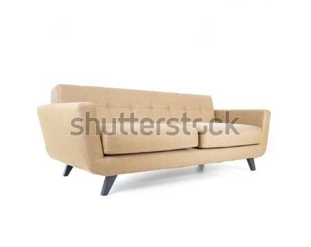 Sofa odizolowany biały moda projektu relaks Zdjęcia stock © zurijeta
