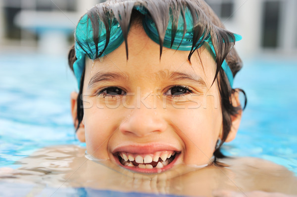 Summertime and swimming activities for happy children on the pool Stock photo © zurijeta