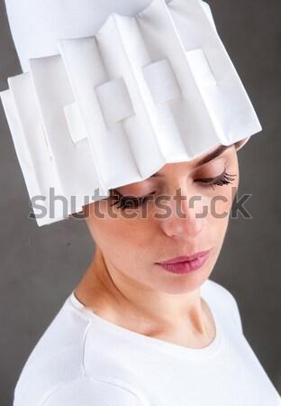 Moslim vrouw achtergrond zwarte hoofd god Stockfoto © zurijeta
