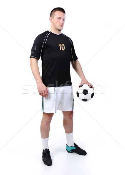 Futbolista pelota aislado blanco fútbol Foto stock © zurijeta