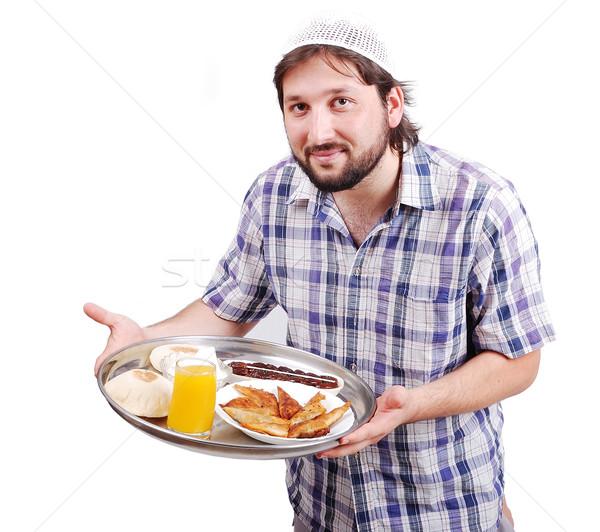 Сток-фото: молодые · мусульманских · человека · подготовленный · продовольствие · рамадан