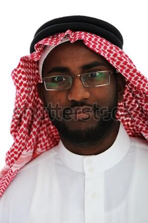 Portrait of an arab man, Sheikh Stock photo © zurijeta