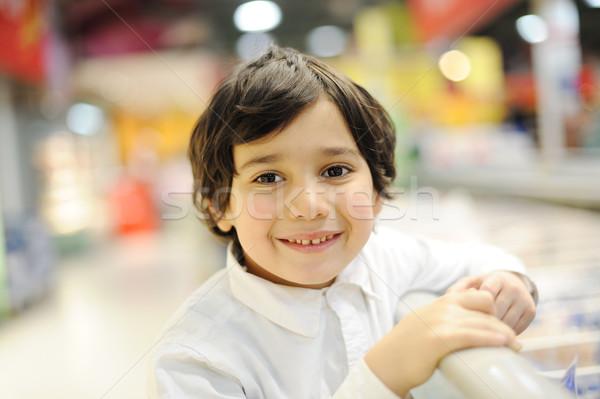 Foto d'archivio: Bello · bambino · shopping · alimentare · sorriso · occhi