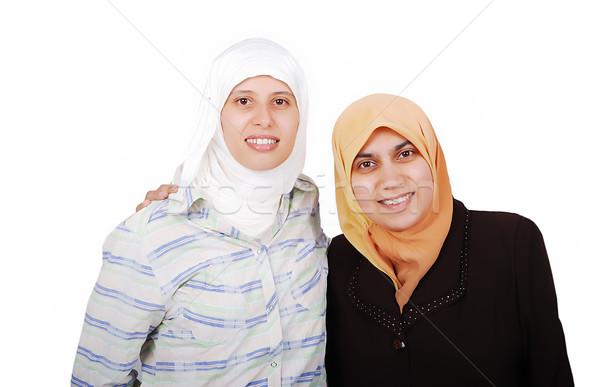 Fiatal muszlim nők hagyományos ruházat izolált Stock fotó © zurijeta