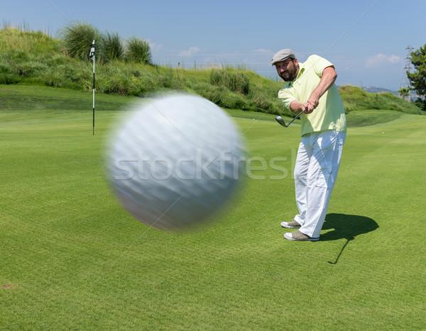 Сток-фото: человека · играет · гольф · клуба · природы · лет