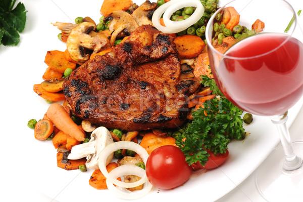 Carne verdura preparato servito pasto Foto d'archivio © zurijeta