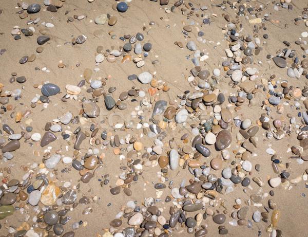 песчаный пляж небе текстуры аннотация фон шаблон Сток-фото © zurijeta
