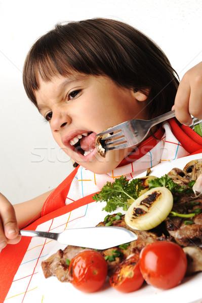 Kid refusing eating food Stock photo © zurijeta