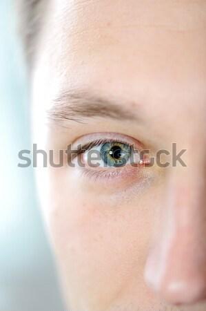 Man eye closeup Stock photo © zurijeta