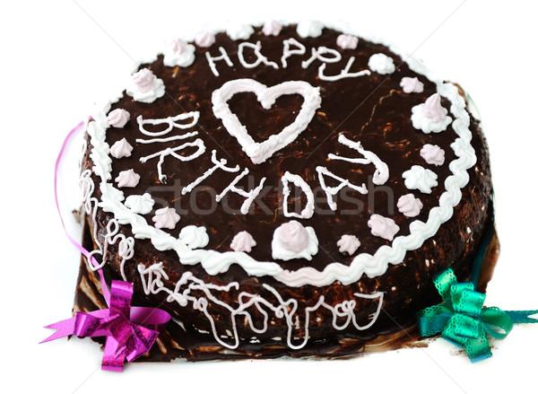 сладкие блюда детей любви торт черный белый Сток-фото © zurijeta