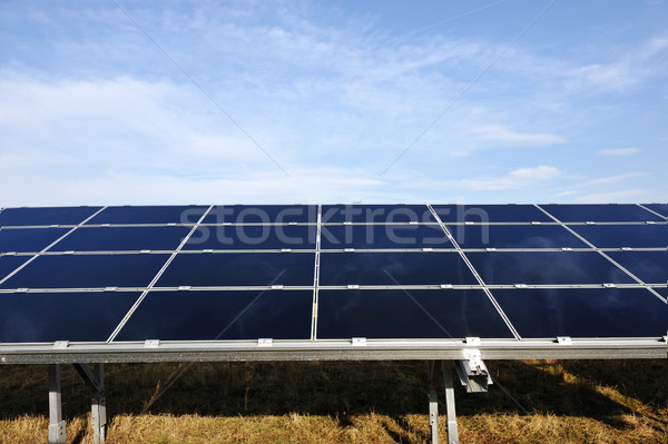 Solar panels energy field Stock photo © zurijeta