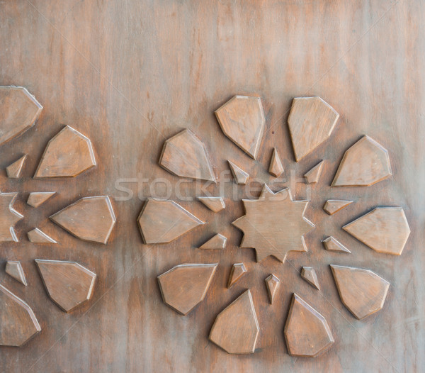 Wood carving pattern Stock photo © zurijeta