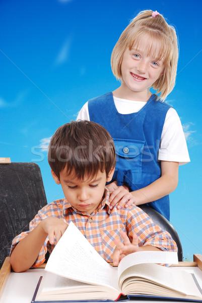 Two little friends, male and female Stock photo © zurijeta