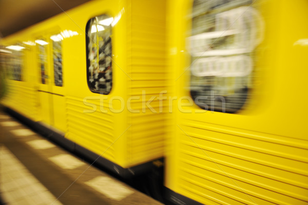 Train in motion, underground metro Stock photo © zurijeta