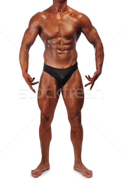 Muscle man standing Stock photo © zurijeta