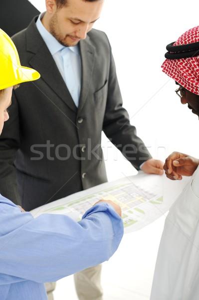Midden oosten bespreken engineering ontwerp project kantoor Stockfoto © zurijeta