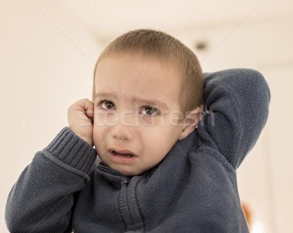 Сток-фото: плачу · мало · Kid · лице · пространстве · мальчика