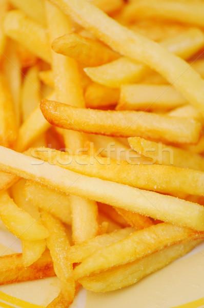 Frites françaises pommes de terre photo légumes repas Photo stock © zurijeta