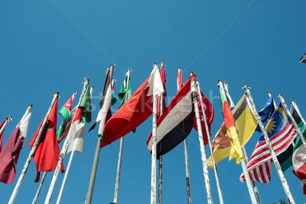 Flags of many nations Stock photo © zurijeta
