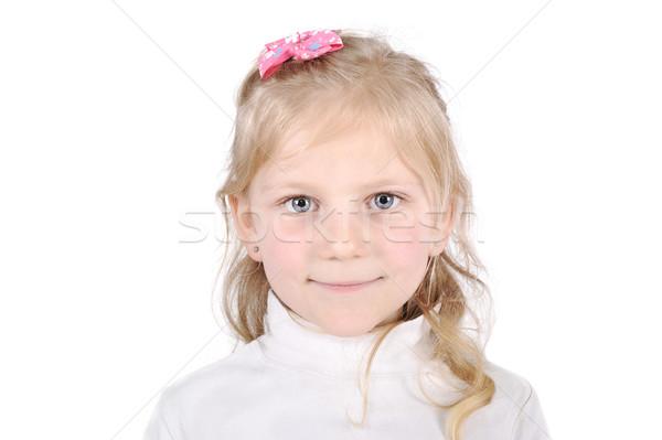 Pretty blonde little girl portrait Stock photo © zurijeta