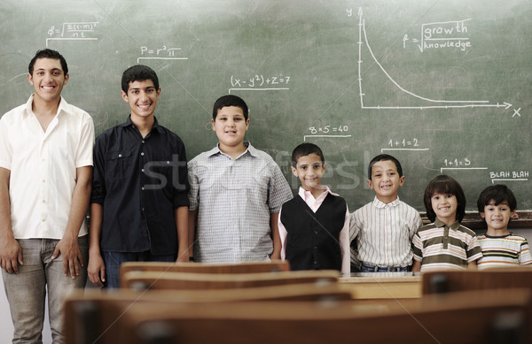 School student generations steps, from preschooler to university Stock photo © zurijeta