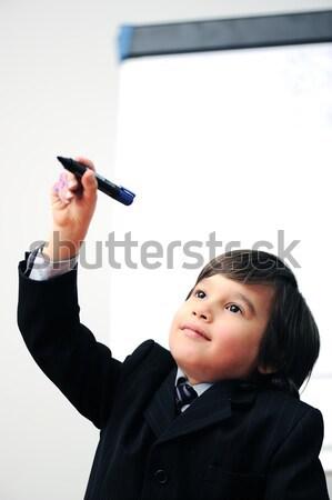 Fiatal apa kicsi fiú izolált fiú Stock fotó © zurijeta