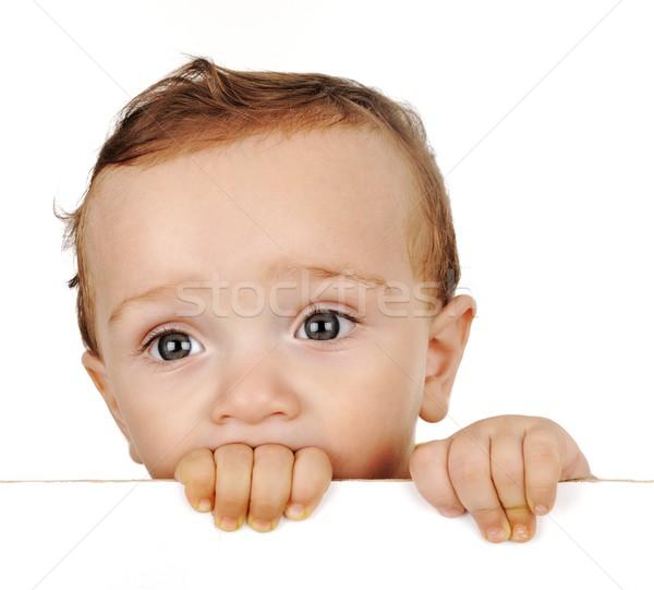 ittle boy look out Stock photo © zurijeta