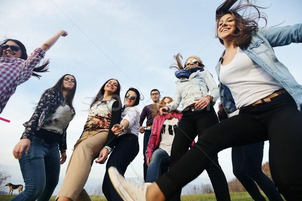 グループ 小さな 一緒に 自然 幸せ ストックフォト © zurijeta