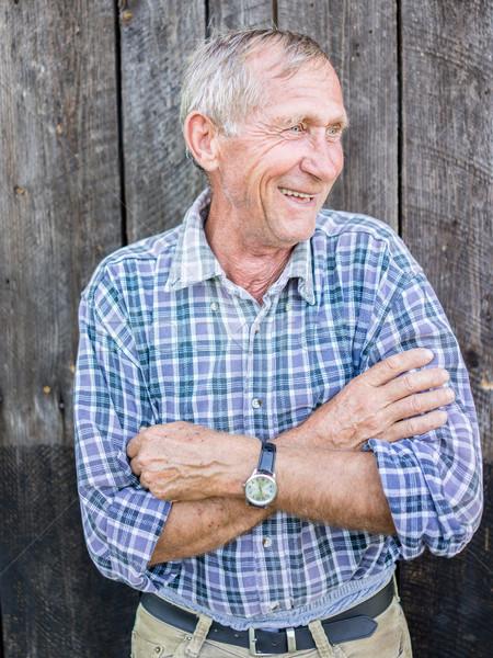портрет старший человека улице здоровья человек Сток-фото © zurijeta