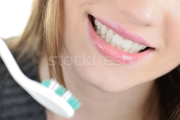 Brushing teeth Stock photo © zurijeta