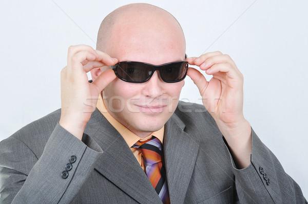 Jonge aantrekkelijk zakenman maffia persoon witte Stockfoto © zurijeta