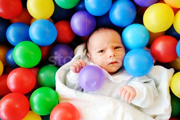 Pasgeboren baby verscheidene oude genieten Stockfoto © zurijeta