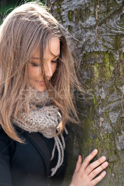 Reflective girl Stock photo © zurijeta
