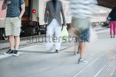 Stock photo: Travelers passengers at airport