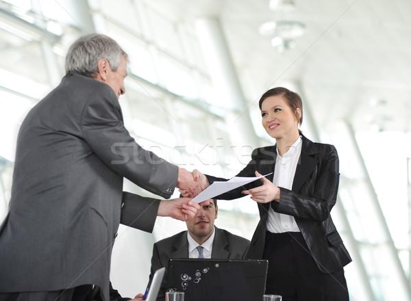 Complimenti lavoro business ufficio uomo Foto d'archivio © zurijeta