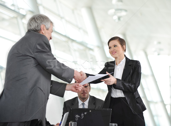 Glückwünsche groß Job Business Büro Mann Stock foto © zurijeta