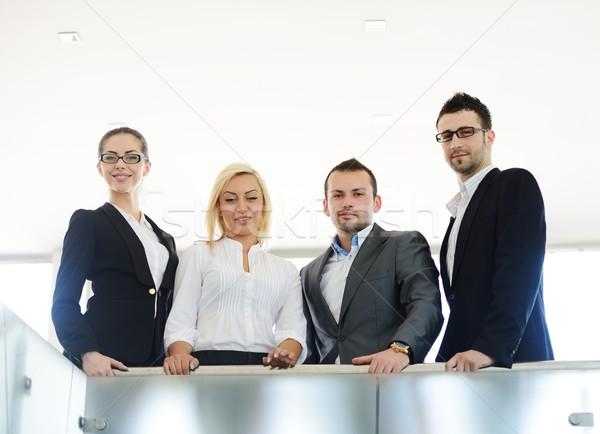 Foto stock: Bem · sucedido · pessoas · de · negócios · real · escritório · trabalhando · negócio