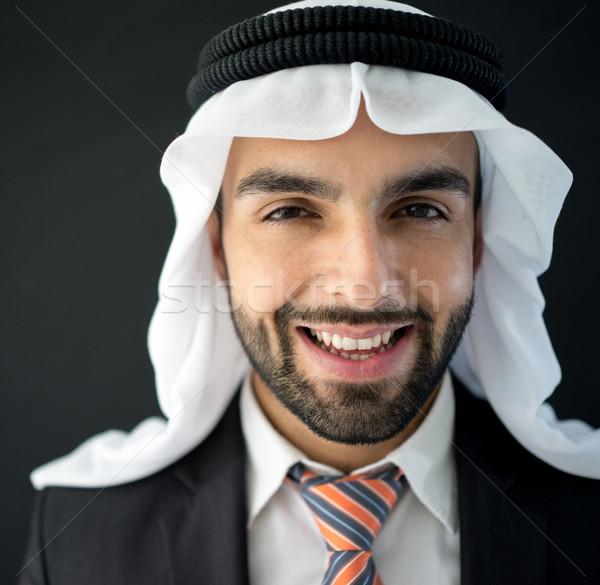 Retrato atraente Árabe homem árabe jovem Foto stock © zurijeta