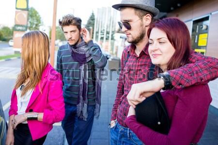 Otantik görüntü genç gerçek insanlar iyi zaman Stok fotoğraf © zurijeta